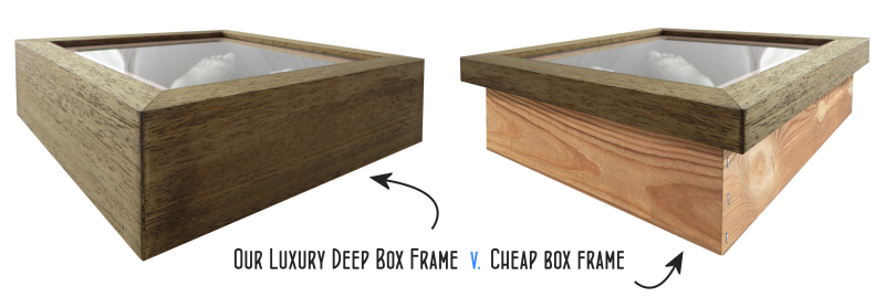 deep solid wood box frame rather than seperate back box